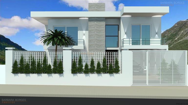Sobrado fachada moderna barbara borges projetos for Modelos de fachadas modernas