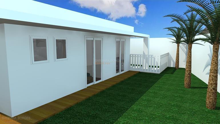 projeto casa 3 quartos Casa Geminada tres quartos