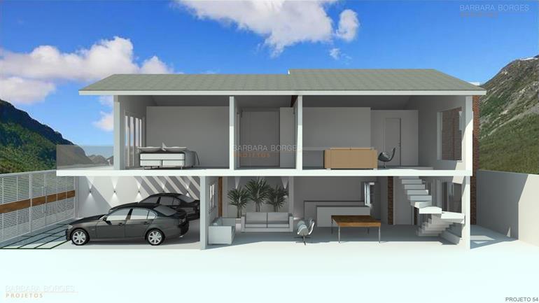 projeto de cozinha americana Casa Popular 1 2 Quartos