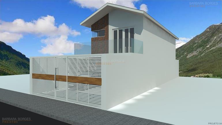 projetos de paisagismo Casa Popular 2 2 Quartos