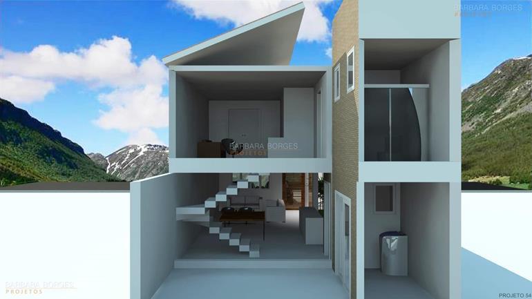 Casa terrea 10 24 metros frente barbara borges projetos for Modelos de fachadas para frentes de casas