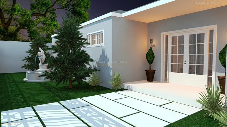 sala de estar e jantar integradas Casa Terrea 10 27 metros frente