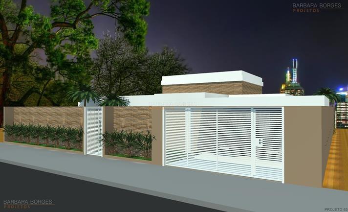 quarto planejado de casal Casa Terrea 10 metros frente