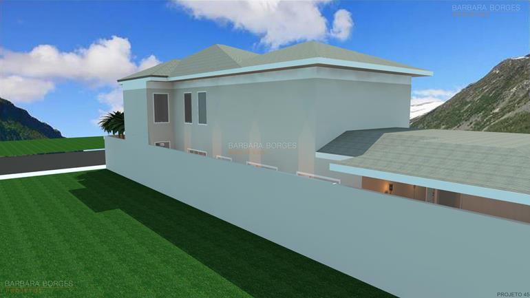 quartos planejados para jovens Casa Terrea 10 metros frente