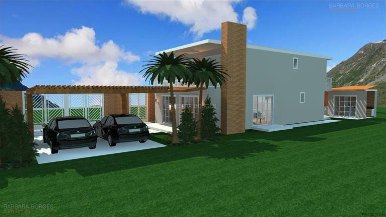 projetos de arquitetos Casas 1 Quarto Varanda Praia