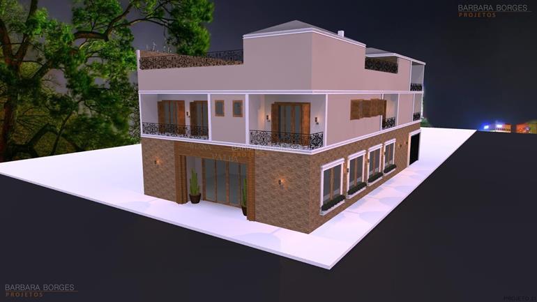 projetos de pousadas Casas 1 Suite Varanda Praia