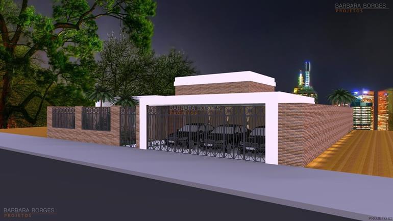 projeto de padaria Casas 3 quartos