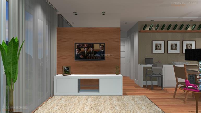 bancos de madeira para varanda Decoração Apartamento