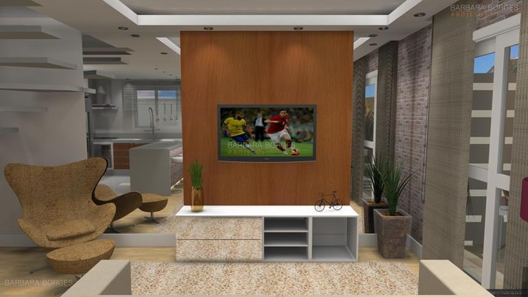 sala de estar planejada Into decor projetos 3D