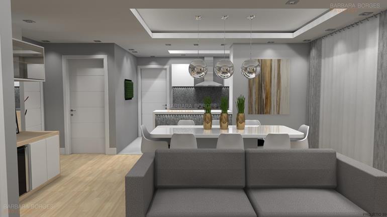 sala de jantar planejada Into decor projetos 3D