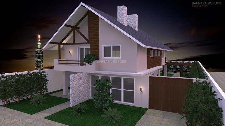 blogs de decoração de ambientes Modelo Casa Terrea 3 Quartos