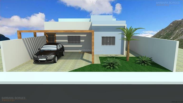 churrasqueira na varanda Modelo Casa Terrea 3 Quartos