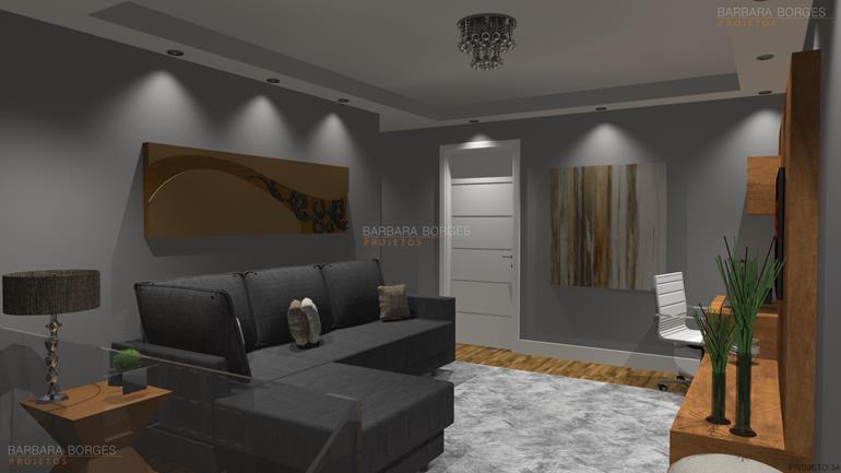 decoração de interiores de casas Modelos Ideias decorações modernas