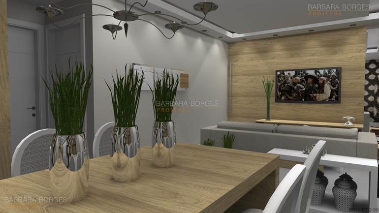 decoração sala de estar e jantar integradas Modelos Ideias decorações modernas