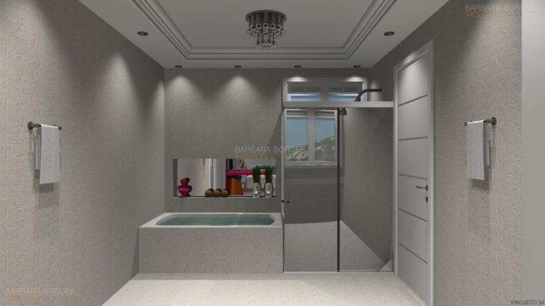 decoração de interiores de casas Modelos decoração banheiro