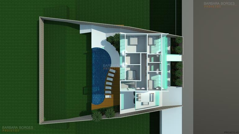 sala de jantar rustica Planta Casas 2 quartos