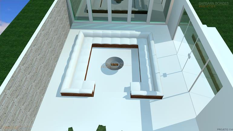 sites de decoração de interiores Planta Casas 2 quartos