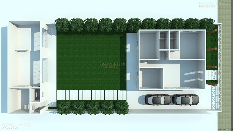 tudo sobre design de interiores Planta Casas 2 quartos