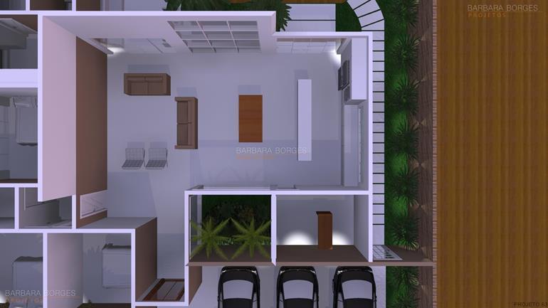 varandas gourmet decoradas Planta Casas 2 quartos