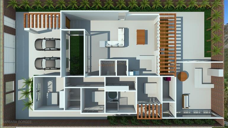 Planta casas 3 quartos