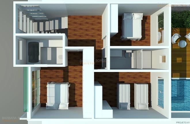 balcão de sala de jantar Plantas Casa Construir