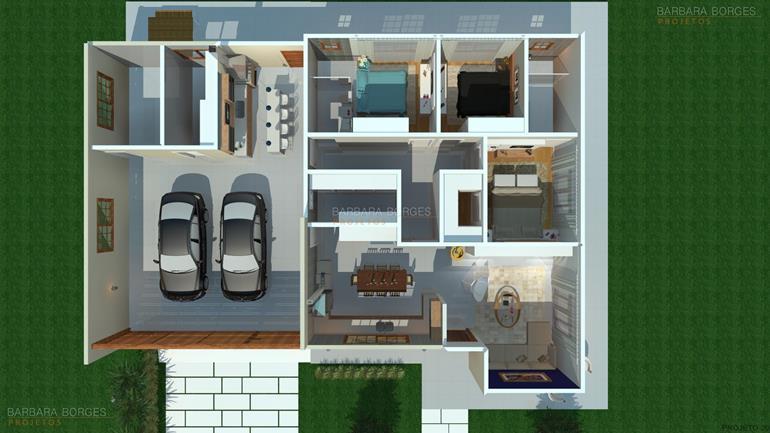 armarios de parede para cozinha Plantas Casa Modelos Sobrados