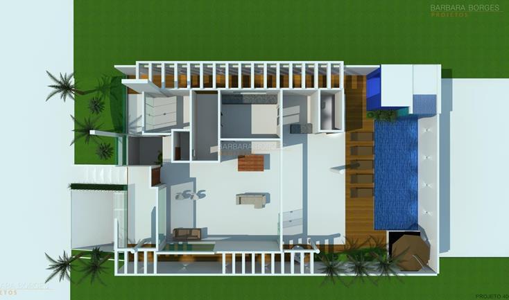 armarios de cozinha de aço Plantas Casas 2 quartos