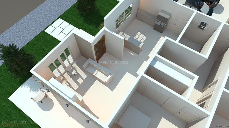 Plantas casas 2 quartos barbara borges projetos - Armario de 2 50 metros ...