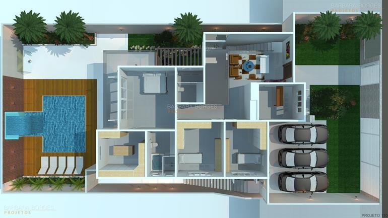 arquitetos são paulo Plantas Casas 2 quartos