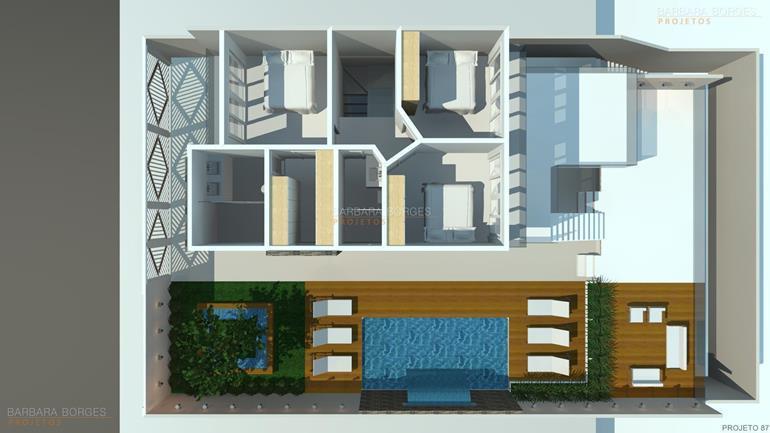 Plantas Casas 2 Quartos Barbara Borges Projetos