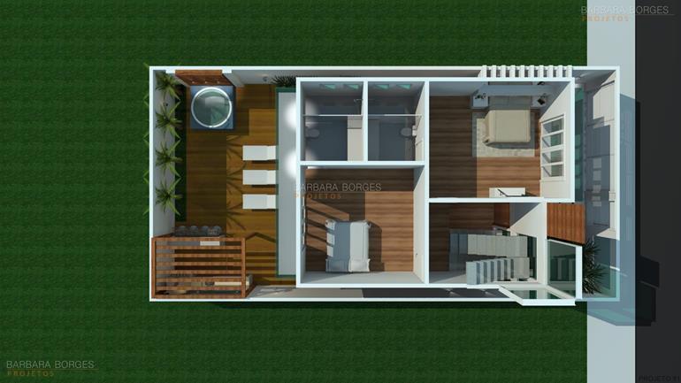 Plantas Casas 2 quartos