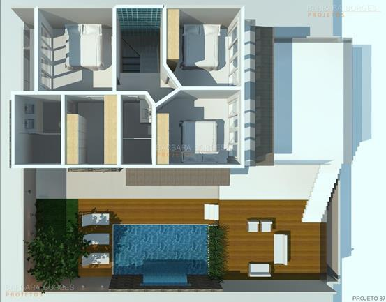 blog de design de interiores Plantas Casas Pequenas