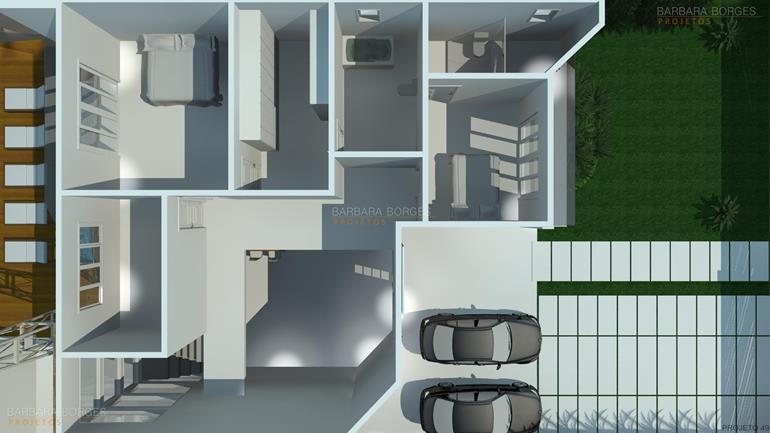 armarios de banheiro planejados Plantas casas 3 quartos