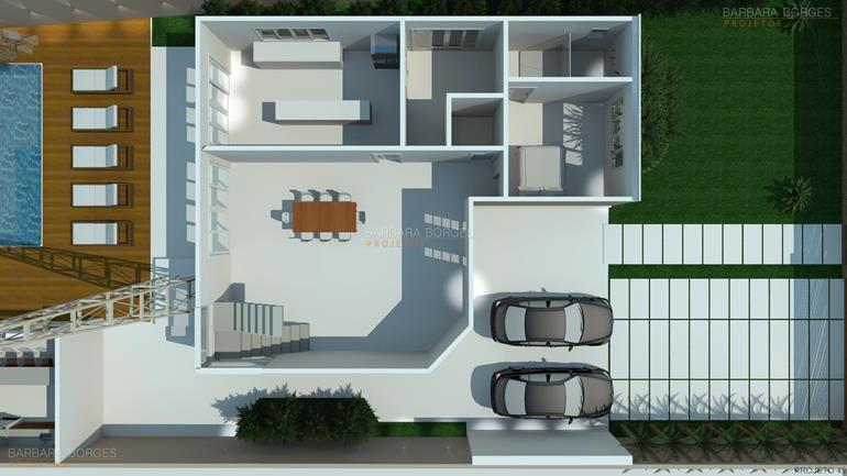 Plantas Casas Construir Barbara Borges Projetos