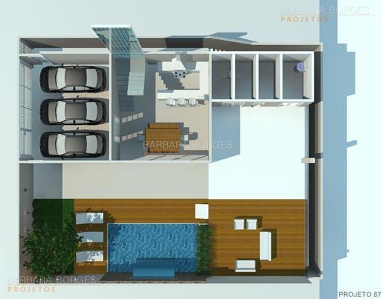 banheiro projetado Plantas casas construir