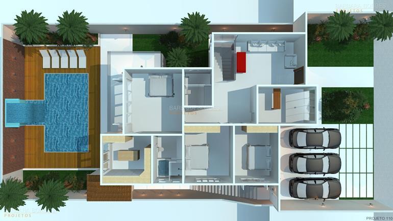 Plantas casas modernas barbara borges projetos for Fotos de casas modernas terreas