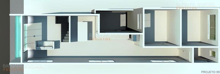decoração de interiores quartos Projeto Casa Popular Economica
