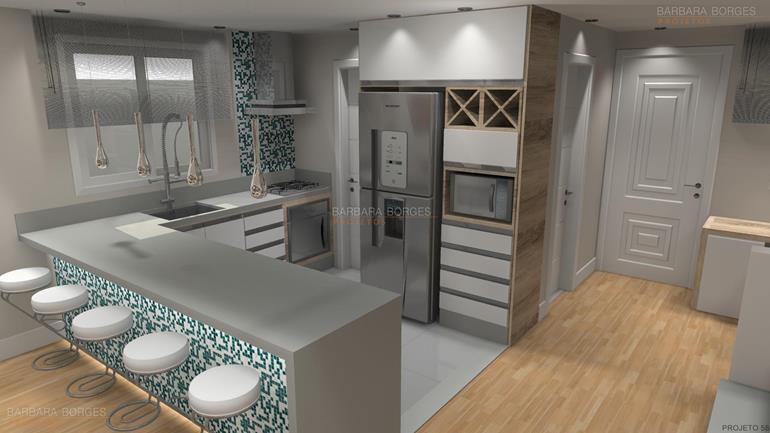 espaço churrasqueira Projetos 3D armario