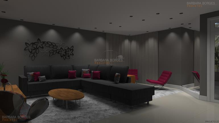 empresas de decoração Projetos 3D estantes