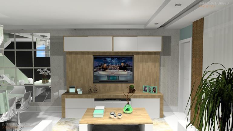 escritorio de design de interiores Projetos 3D estantes