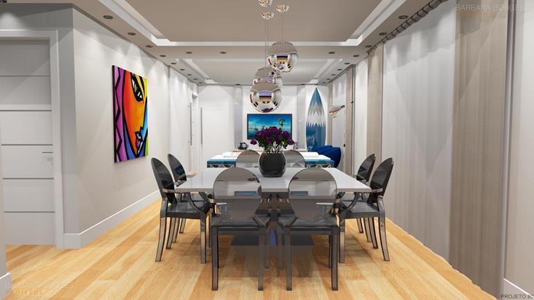 fotos de salas modernas Projetos 3D estantes