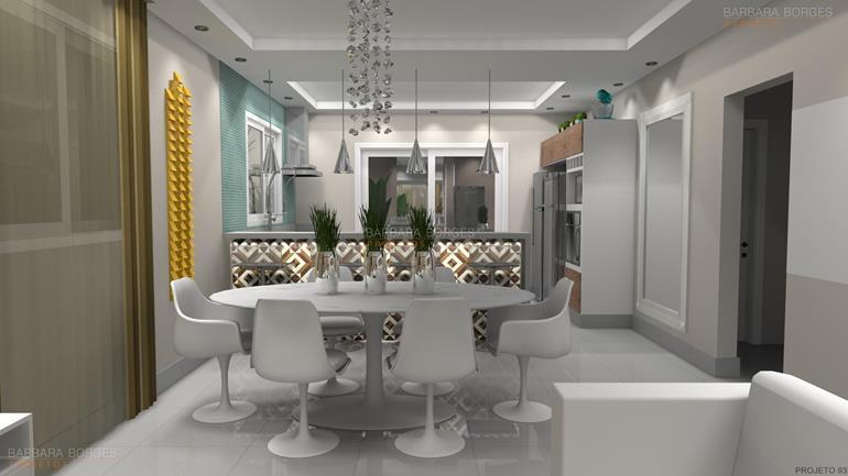 fotos de sala decorada Projetos 3D móveis decoração interiores