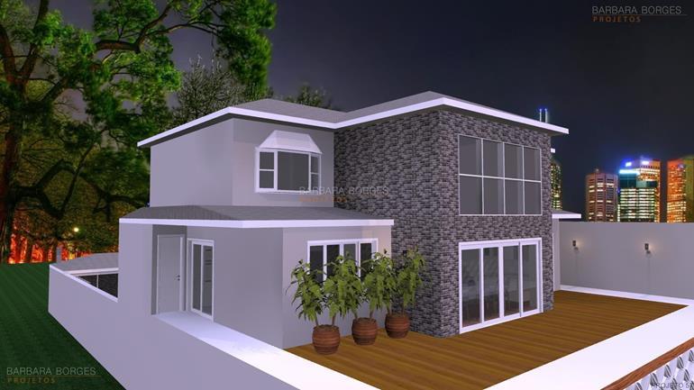 espaço churrasqueira Projetos Casas Duplex