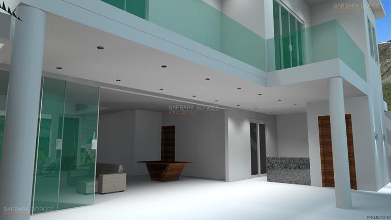 fotos de salas modernas Projetos Casas Geminadas