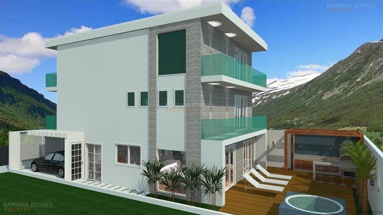 Projetos casas modernas