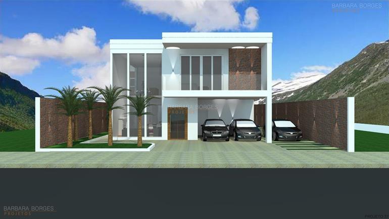 decoração de area externa com churrasqueira Sobrado moderno 3 quartos varanda