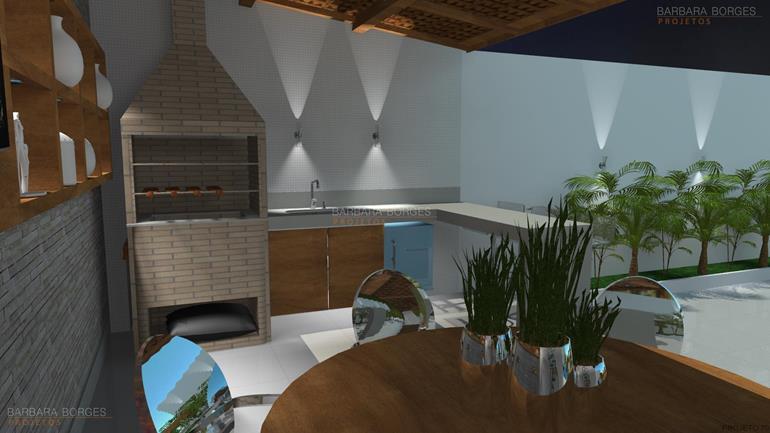 projeto de banheiro área gourmet churrasqueira