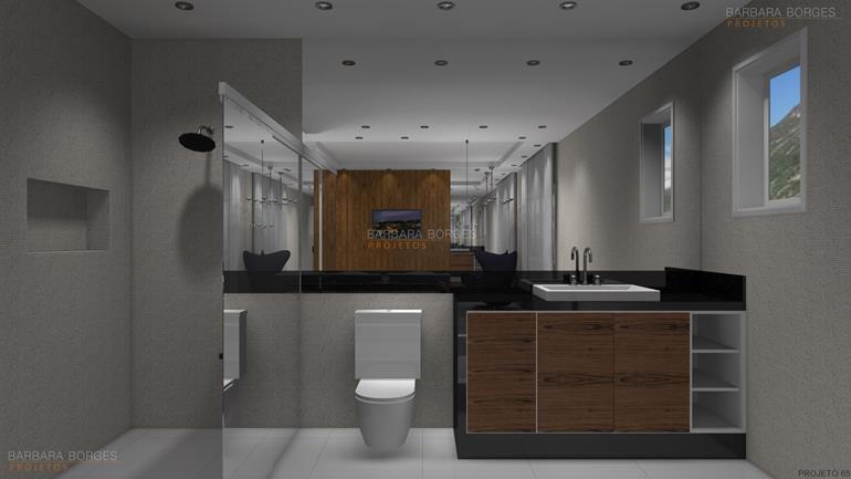 projeto de banheiro armário banheiro