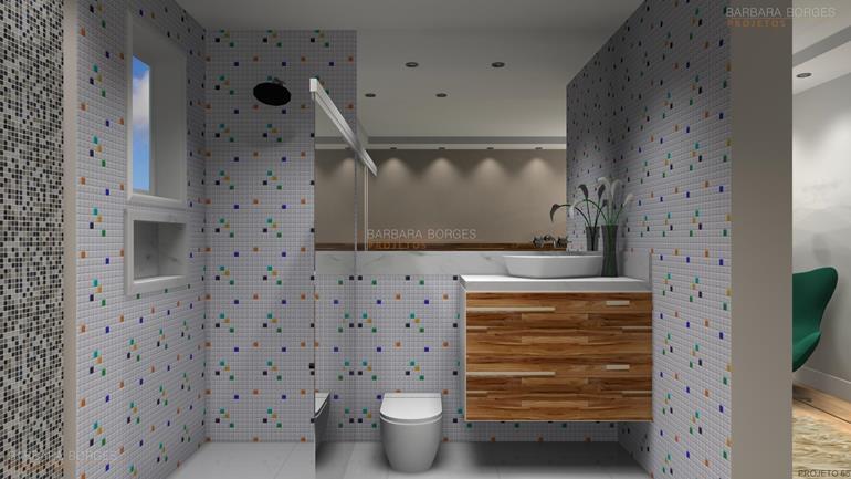 projetos 3d armario banheiro espelho