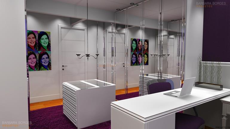 quartos planejados pequenos armário escritório